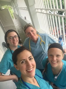 Most of the Jo's Nurses team on day one (we lost Shani!)