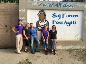 Jo's Nurses in front of the Midwives for Haiti house