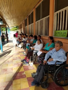 Wheelchair clinic patients waiting